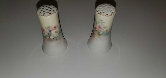 BS- Pair of Antique Bavarian Salt & Pepper Shakers
