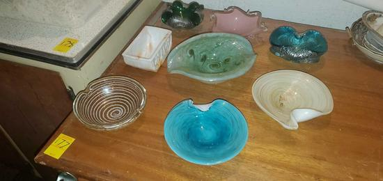 BS- (9) Pieces of Art Glass