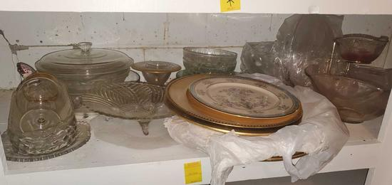 BS- Lot Of Glass & Serviceware