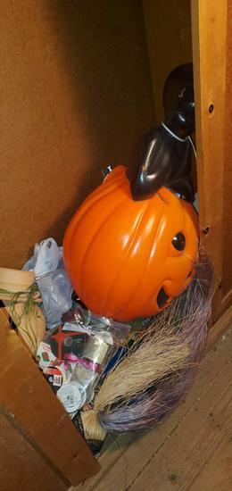 A- Closet Full of Christmas & Halloween Decor