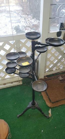 P- Cast Metal Swing Arm Plant Stand