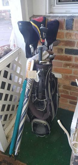 P- Golf Clubs, Bag & Umbrellas