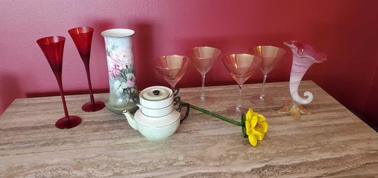 D- Lot of Lustreware, Ceramic & Glass