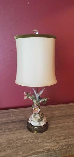D- Porcelain Hand Painted Lamp