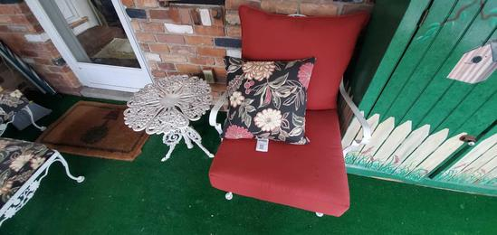 P- Oversized Wrought Iron Chair & Table
