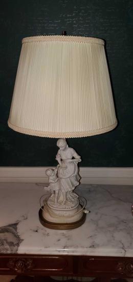 L- Antique Porcelain Lamp