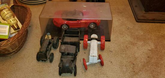 Lot of Cast Iron Car Toys
