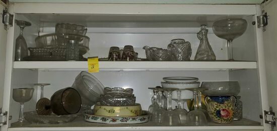 K- (2) Cabinets Full Misc. Kitchenware