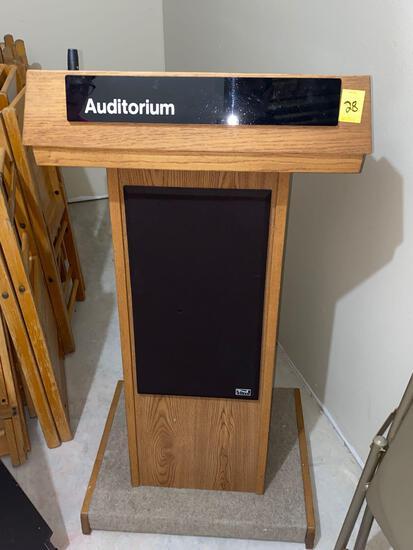 Podium with Speaker System