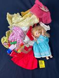 Old Doll and Doll Clothes