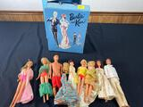 Barbie and Ken Doll Case with Barbies