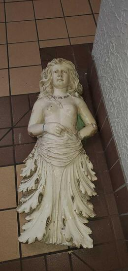L- Chalkware Decorative Woman