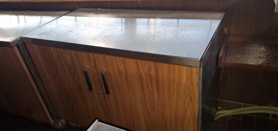 A- Stainless Steel Top 2 Door Front Loading Cooler