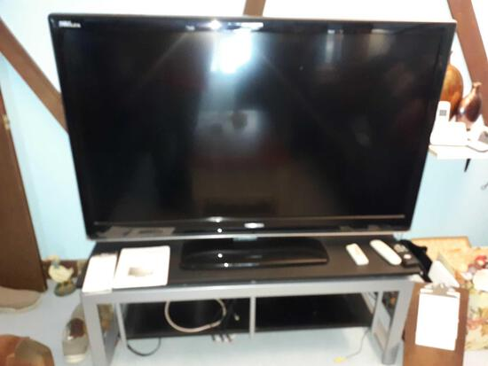 """LR- Sanyo 52"""" Flat Screen TV and Stand"""