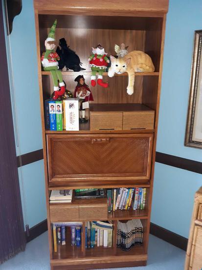 LR- Secretary Desk and Bookcase
