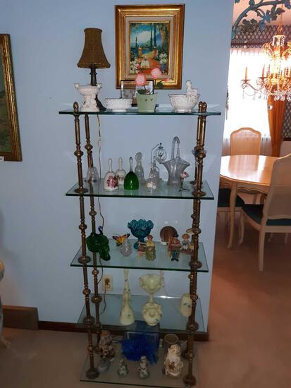 FR- Glass Shelves with Decorative Items