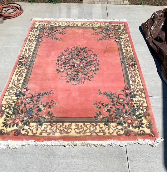 9 x 12 Pink Chinese Area Rug