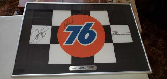 H- Nascar Checkered Flag Autographed