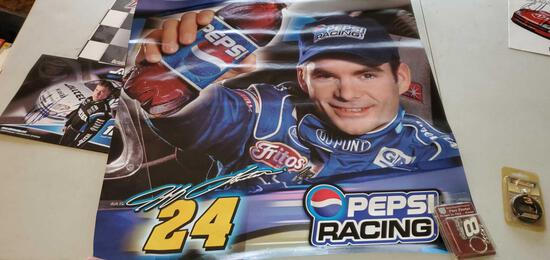 H- NASCAR posters and key chains