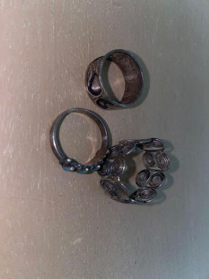 MB- Sterling Silver Rings