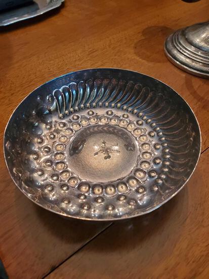 FR- Silver on Copper Dish