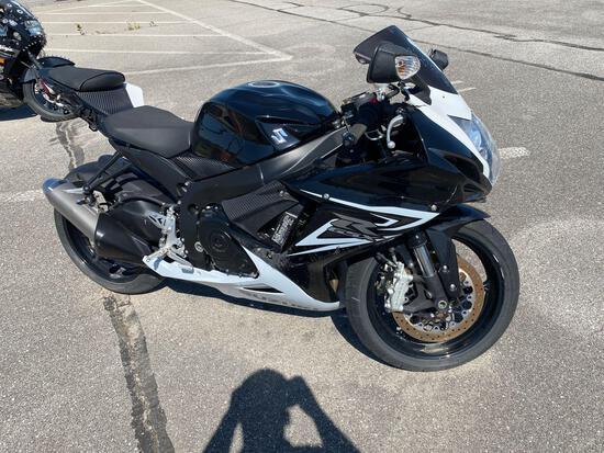 2014 Black Suzuki Motorcycle