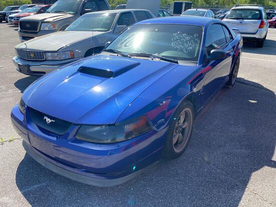 2003 Blue Ford Mustang