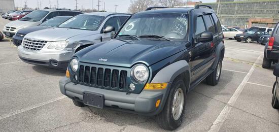 2005 Green Jeep Liberty