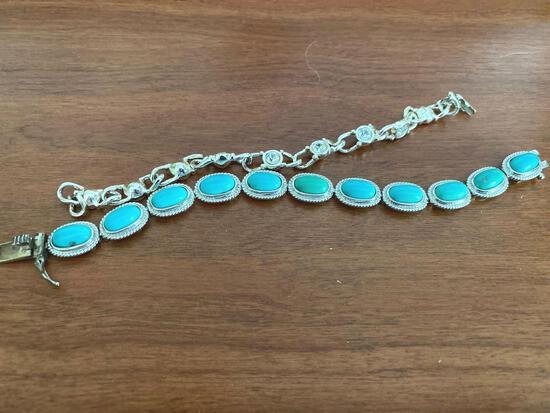 MB- (2) Marked .925 Sterling Silver Bracelets