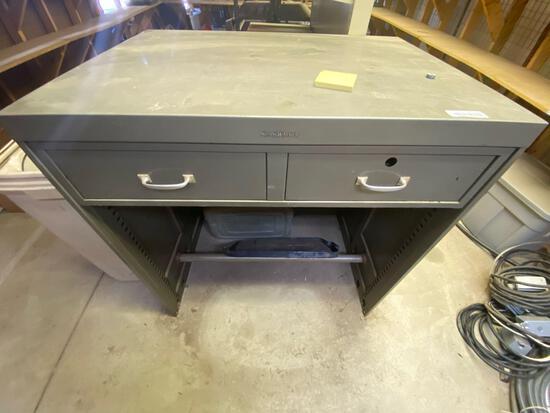 W2- Shaw Walker Stand up Metal Desk