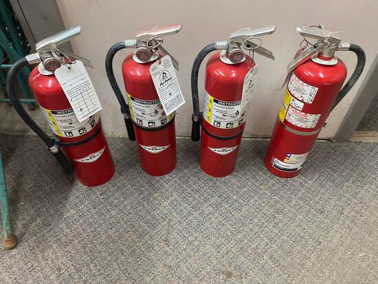 W- (4) Large Fire Extinguishers