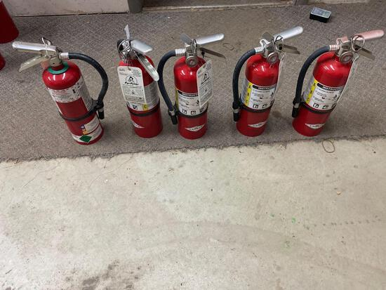 W- (5) Small Fire Extinguishers