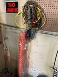 W- Snow fence, Chain, Jumper Cables