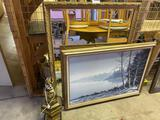 W2- Mirror, Painting, Lamp