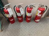 W- (4) Large Fire Extinguishers