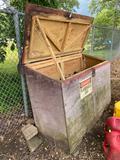 O- Outdoor Wooden Storage Bin
