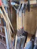 W- Lot of Flat Shovels and Rake