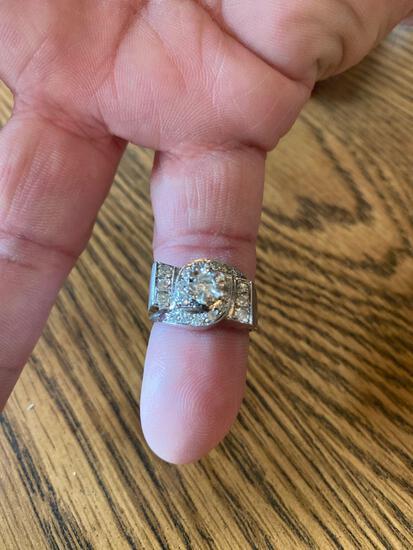 K- CRC 14K White Gold Wedding Ring