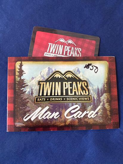 Twin Peaks Gift Card $50