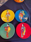 Geisha Plates