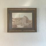 Framed New England Harbor