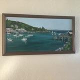 Maine Harbor Acrylic Original by Bev Chudey