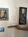 Wall Art Moss Shells and Drift Base, Framed Hand made Art