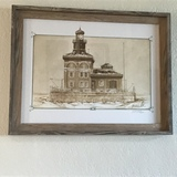 Toledo Harbor Light Gerald Hill Print