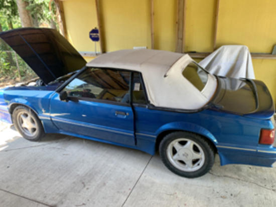 1989 Ford Mustang LX Convertible Online Auction!