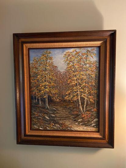 U- Fall Oil Painting by Gloria Sandusky