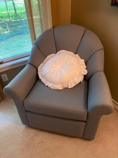 U- Blue Swivel Chair