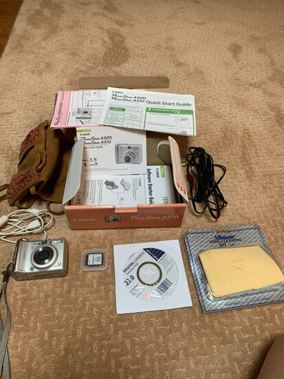 Canon Powershot Digital Camera with bag and accessories