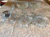 1- Lot of Crystal Glass