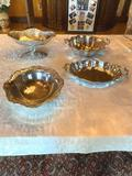 1- (4) Metal Servingware